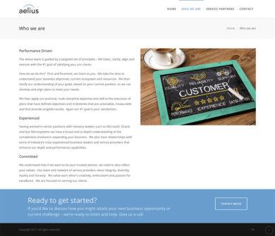 Web Development for Aelius Consulting