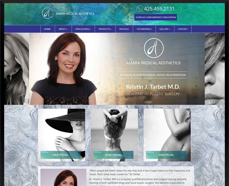 WordPress Amara Medical Aesthetics