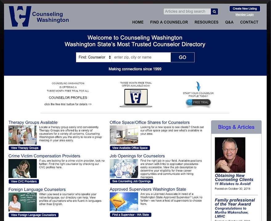 Custom E-commerce Counseling Washington