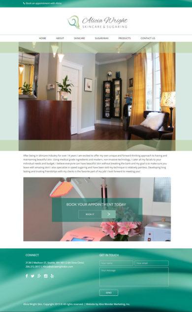 Woeb Design for Alicia Wright, Skincare & Sugaring