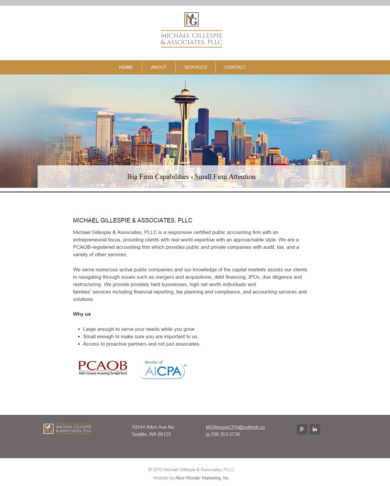 Web Design for Michael Gilllespie & Associates, PLLC