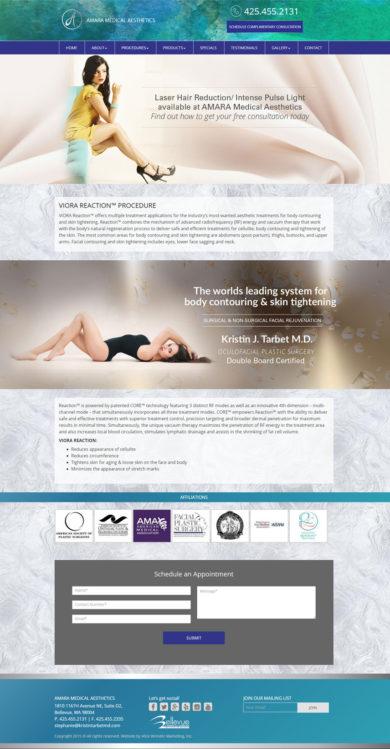 Web Development for Amara Medical Aesthetics