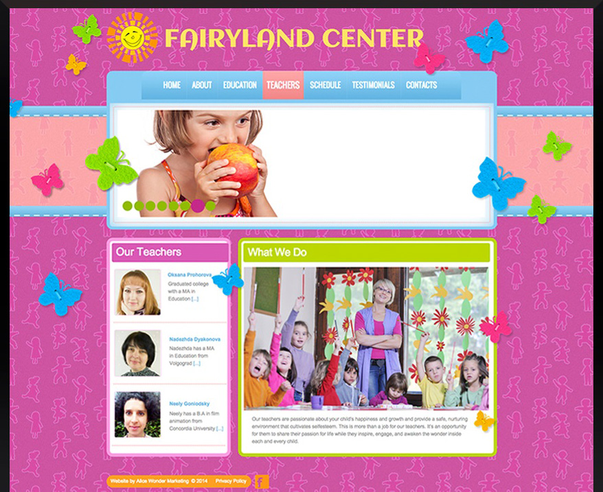 WordPress Fairyland Center