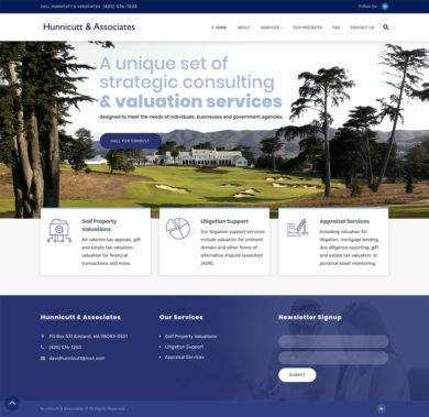 Web design for Hunnicut & Associates