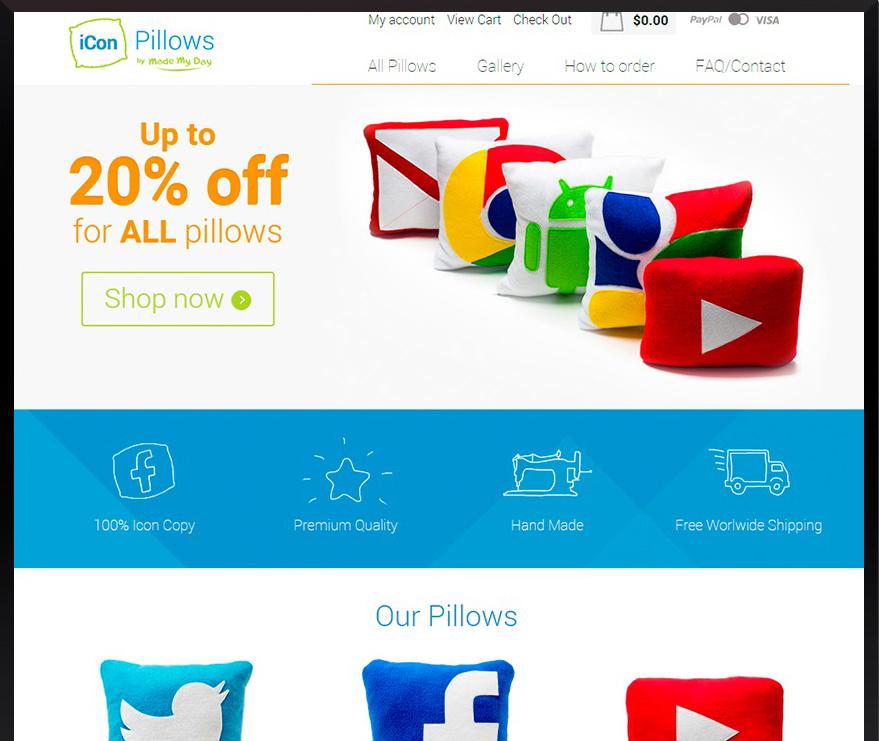 Custom e-commerce Iconpillows