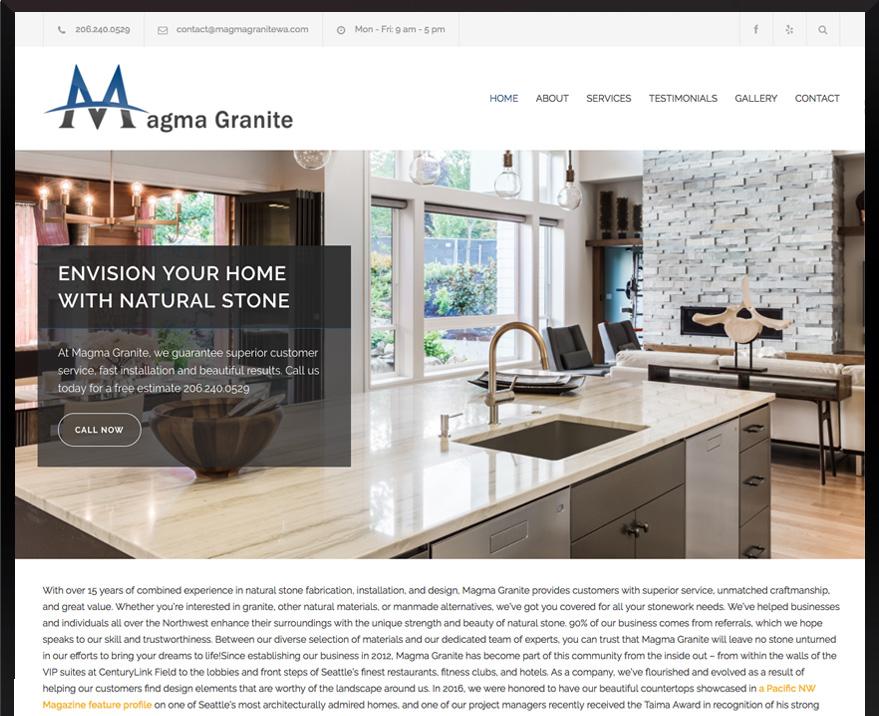 WordPress Magma Granite