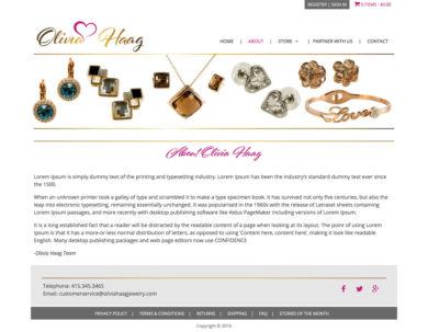 Wordpress Developmrent for Olivia Haag Jewelry