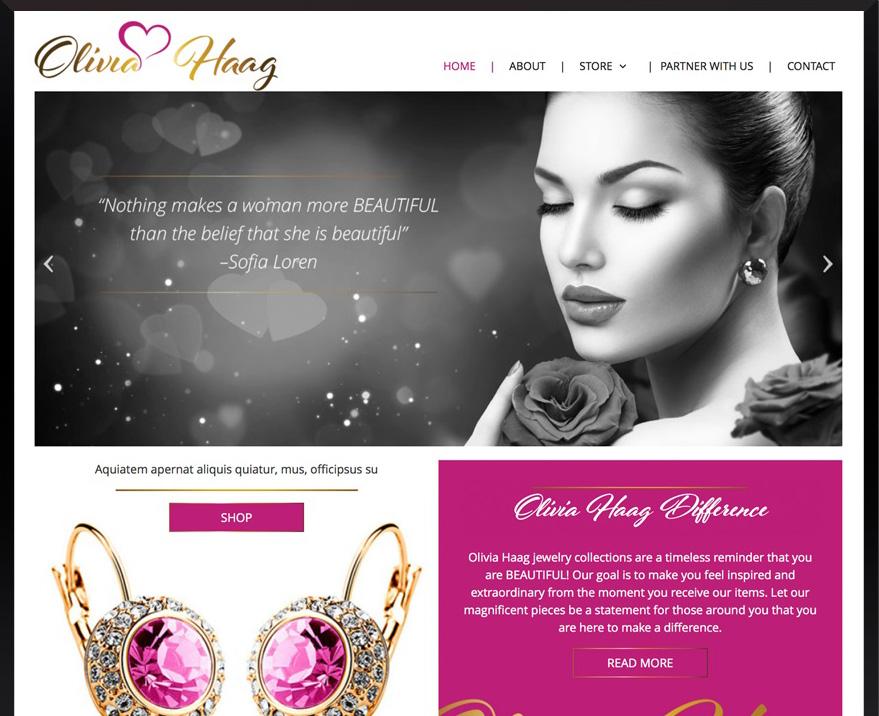 E-commerce WordPress Olivia Haag Jewelry