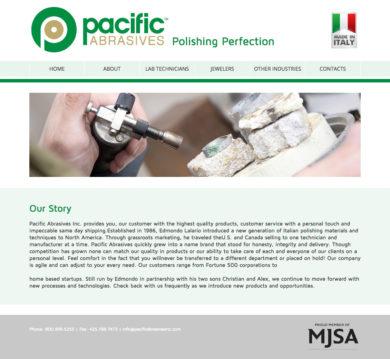 Web Development for Pacific Abrasives