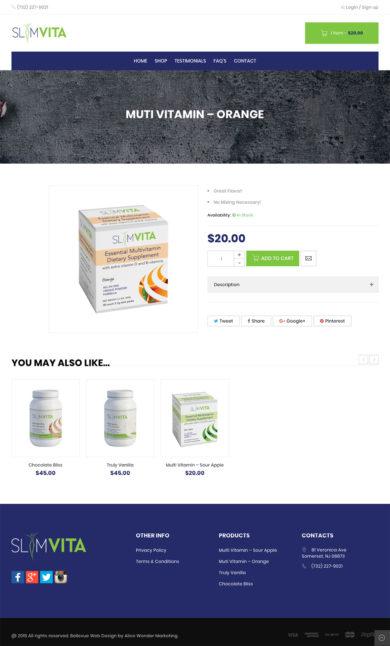 Web Design for Slimvita