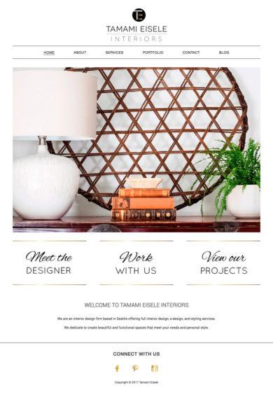 Wordpress Development for Tamami Eisele Interiors