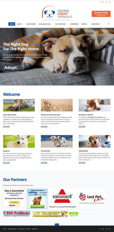 Web Design for Saving Great Animals