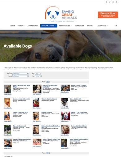 Wordpress Development for Saving Great Animals