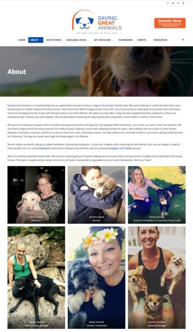 Web Development for Saving Great Animals