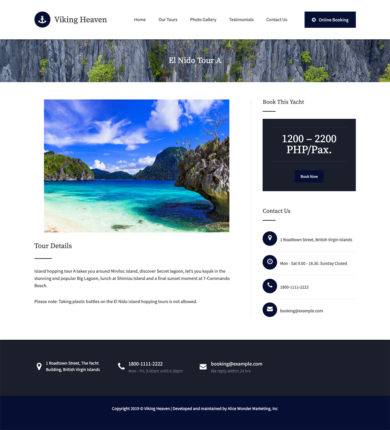 Web Design for Viking Heaven