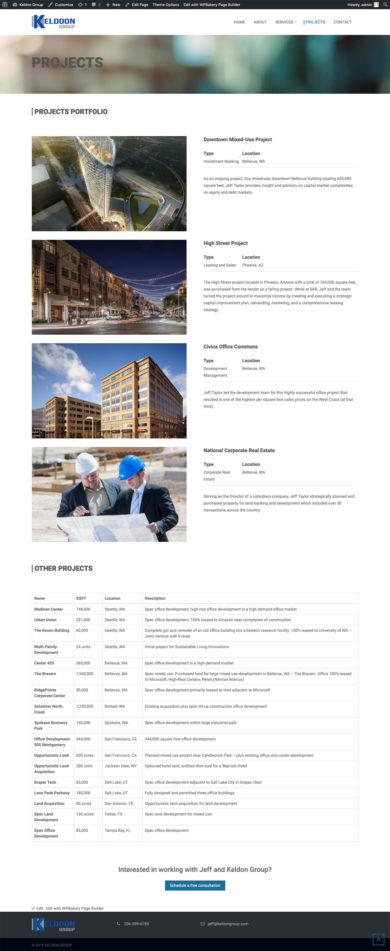 Web Design for Keldoon Group