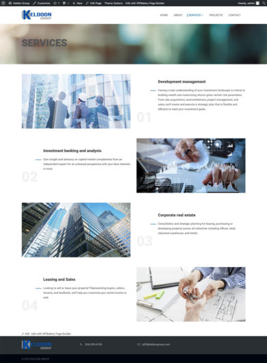 Wordpress Development for Keldoon Group