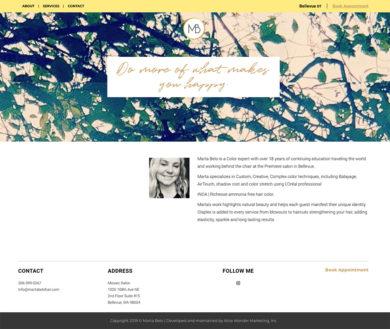 Web Design for MARTA BELO COLOR EXPERT