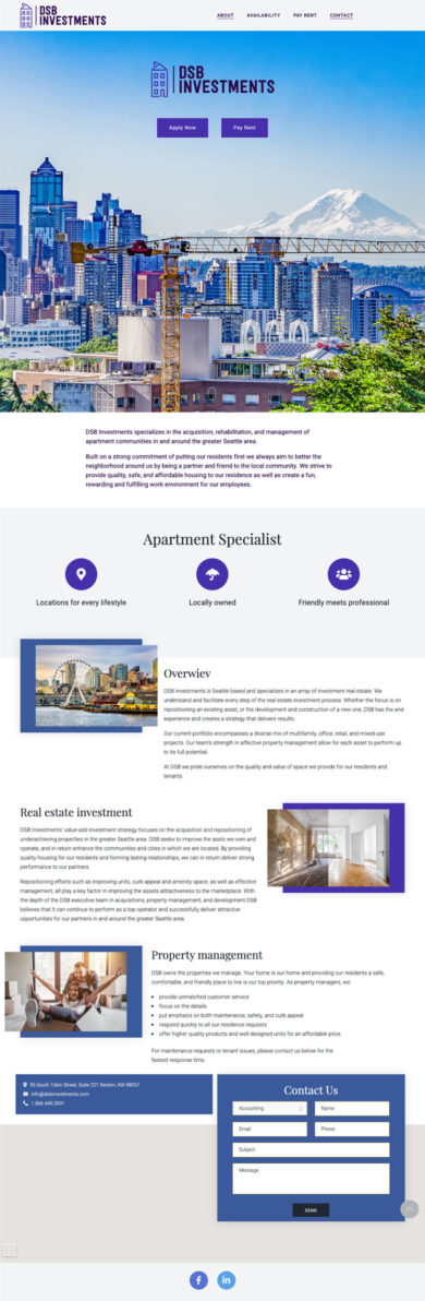 Web Development for DSB Investments