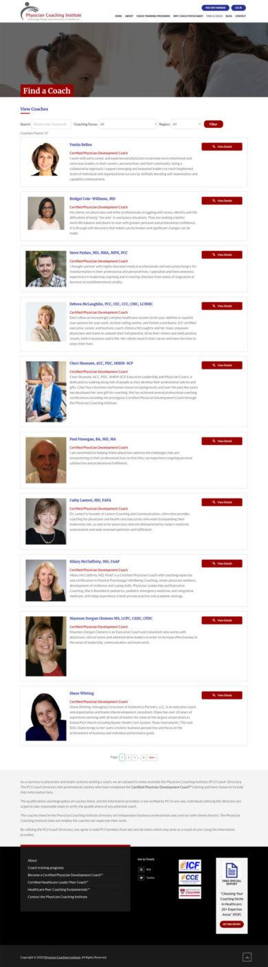Wordpress Development for Physician Coaching Institute