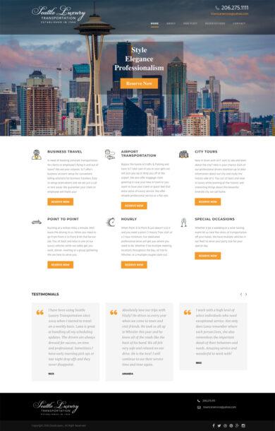 Wordpress Development for SEATTLE LUXURY TRANSPORTATION