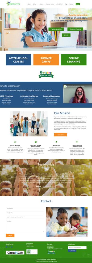 Web Design for Grasshopper