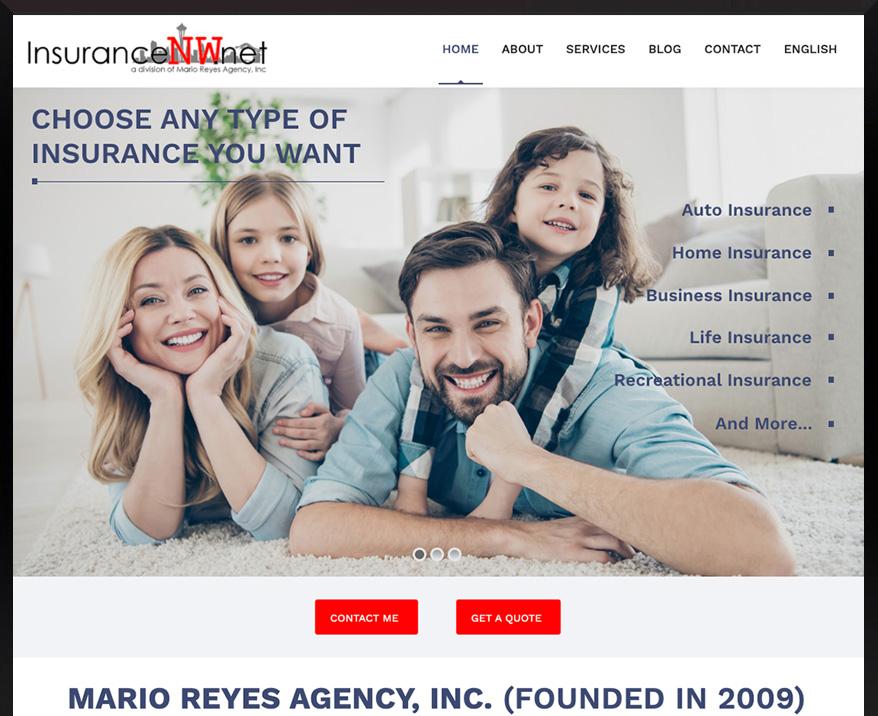 WordPress site for Mario Reyes Agency