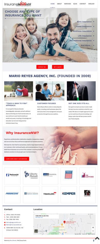 Web Design for Mario Reyes Agency