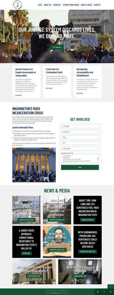 Web Design for Look 2 Justice