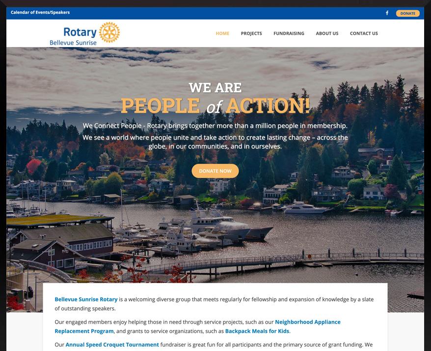 WordPress site for Bellevue Sunrise Rotary